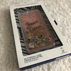 Rebecca Minkoff liquid glitter fall iPhone case